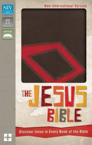 NIV, The Jesus Bible, Imitation Leather, Brown/Red, Red Letter