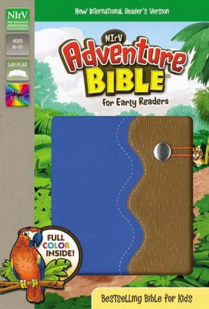 NIrV, Adventure Bible for Early Readers, Imitation Leather, Blue/Tan, Full Color