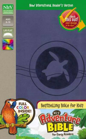 NIrV, Adventure Bible for Early Readers, Imitation Leather, Blue, Full Color