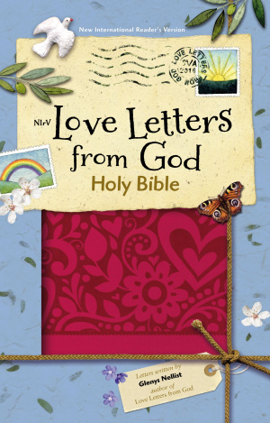 NIrV Love Letters from God Holy Bible, Imitation Leather, Magenta