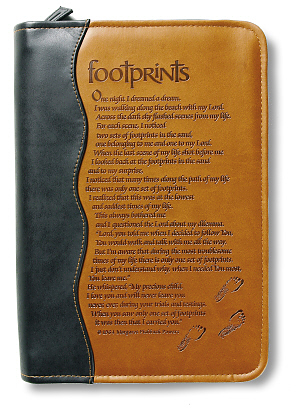 Footprints Bible Cover XL