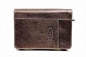 Bible Cover Dark Earth Leather-Look Extra Large
