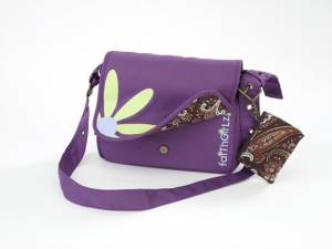 Faithgirlz Bible Cover Messenger Bag Grape Medium