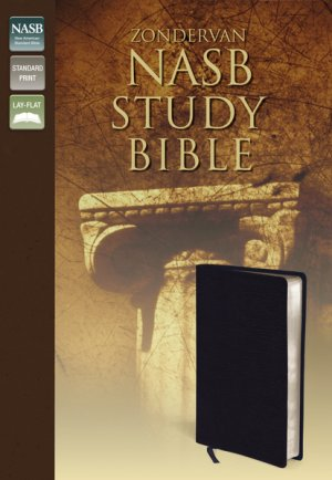 NASB Study Bible: Navy, Bonded Leather, Thumb Index