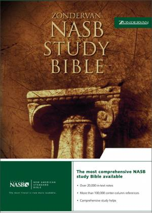 NASB Study Bible: Burgundy, Top Grain Leather