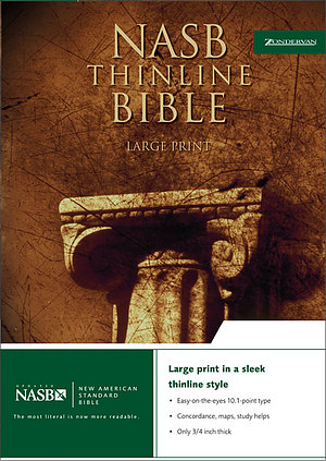 NASB Large Print Bible: Burgundy, Bonded Leather, Thinline