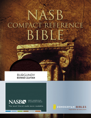 NASB Compact Reference Bible: Burgundy, Bonded Leather