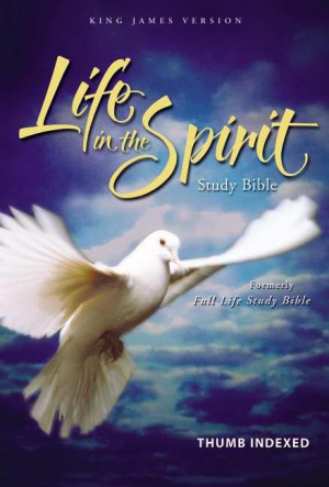 KJV Life in the Spirit Study Bible: Burgundy, Bonded Leather, Thumb Indexed