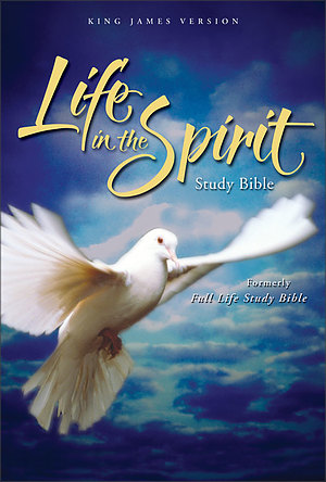 KJV Life in the Spirit Study Bible: Black, Top Grain Leather, Thumb Indexed