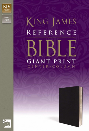 KJV Giant Print Bible: Navy, Premium Leather Look,