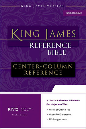 KJV Reference Bible: Navy, Bonded Leather, Thumb Index