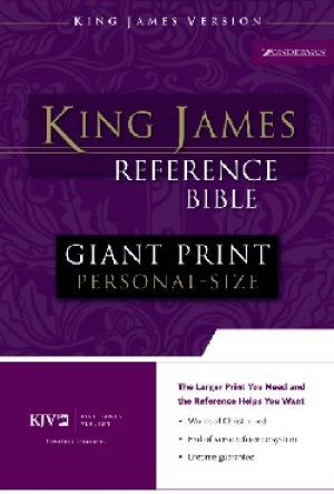 KJV Personal Size Reference Bible: Black, Imitation Leather, Giant Print