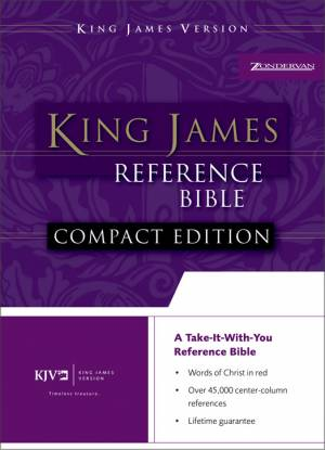 KJV Compact Reference Bible: Navy, Bonded Leather