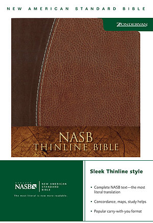 NASB Thinline Bible: Mahogany & Chocolate, Duo-Tone