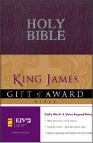 KJV Gift and Award Bible: Purple, Leather-look