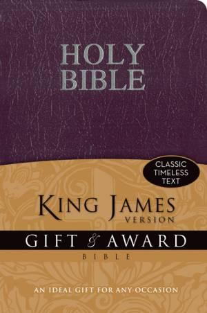 KJV King James Version Gift & Award Bible Purple Imitation Leather