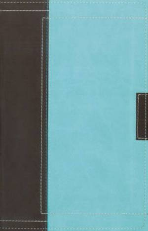 NASB Thinline Bible: Chocolate/Turquoise, Italian Duo Tone