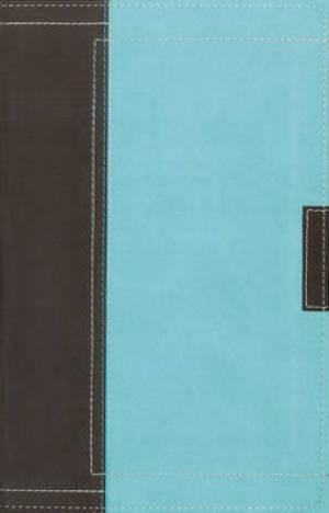 NASB Thinline Bible: Chocolate/Turquoise, Italian Duo Tone