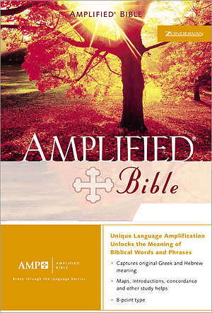 Amplified Bible: Black, Bonded Leather