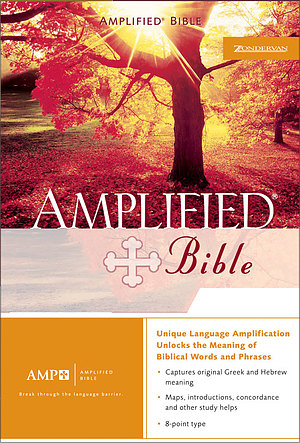 Amplified Bible: Burgundy, Bonded Leather