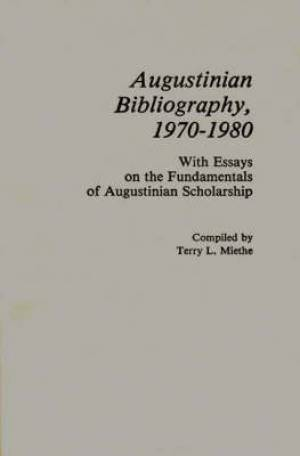 Augustinian Bibliography, 1970-1980