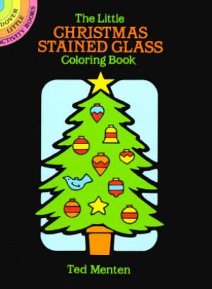 The Little Christmas Stained Glass Colouring Book