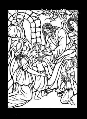The Life of Jesus Stained Glass Coloring Book