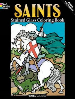 Saints Stained Glass Coloring Book