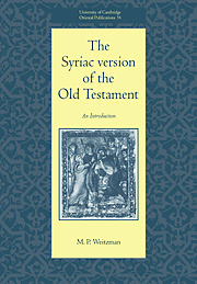 Syriac Version Of The Old Testament