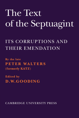 The Text of the Septuagint