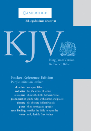 KJV Pocket Reference Bible Purple Imitation Leather