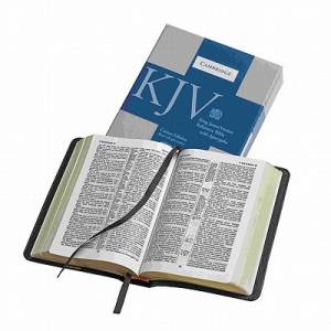 KJV Cameo Reference Edition with Apocrypha KJ453:XRA Black Calfsplit Leather