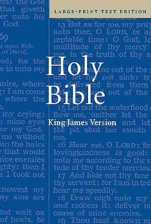 KJV Large Print Bible: Hardback