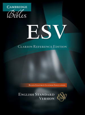 ESV Clarion Reference Bible Goatskin Black