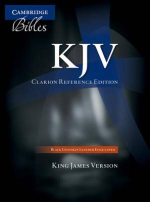 KJV Clarion Reference Bible Goatskin Leather Black