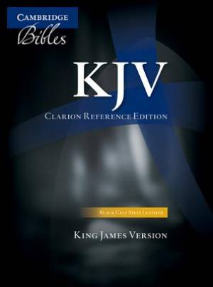 KJV Clarion Reference Bible Calfskin Leather Black