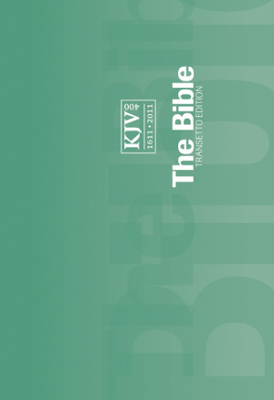 KJV Transetto 'Landsape' Text Pocket Bible Paperback Green