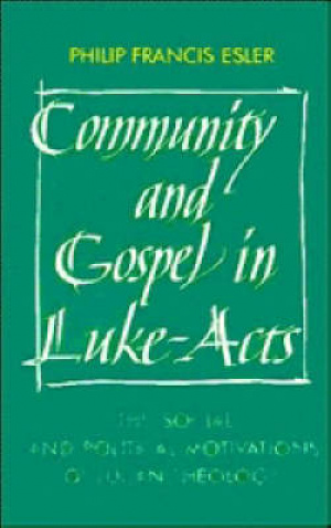 Community and Gospel in Luke-Acts: The Social and Political Motivations of Lucan Theology