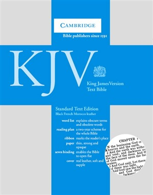 KJV Standard Text Bible: Black, French Moroccan Leather