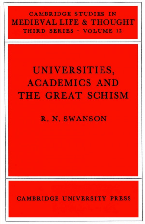Universities, Academics and the Great Schism