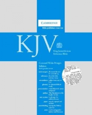 KJV Concord Wide Margin Reference Bible: Black Goatskin Leather