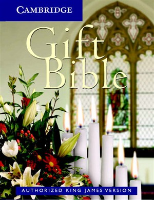 KJV Gift Bible: White, Imitation Leather