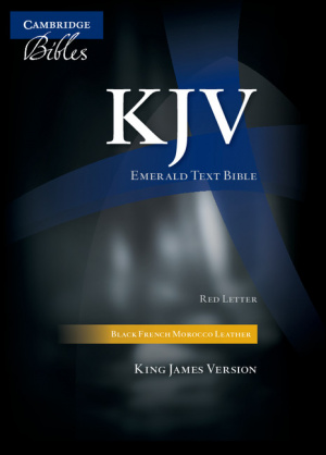KJV Standard Text Bible: Black, French Morocco Leather