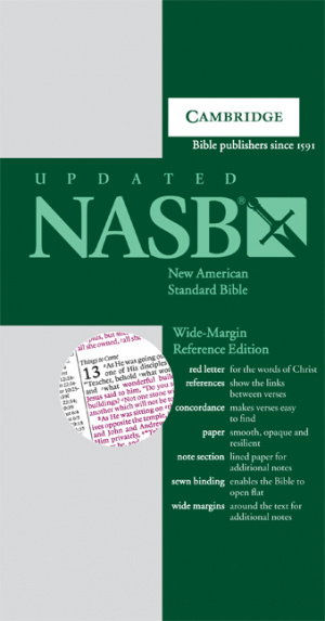 NASB Wide Margin Reference Bible: Dark Green, Hardback
