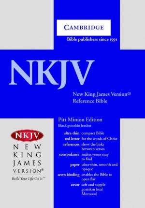 NKJV Pitt Minion Reference Bible: Black, Goatskin Leather