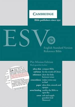 ESV Pitt Minion Reference Bible: Black, Goatskin Leather