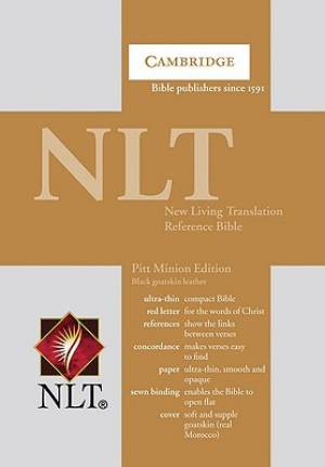 NLT Pitt Minion Reference Edition: Black, Goatskin Leather