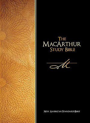 NASB MacArthur Study Bible: Black,  Bonded Leather,
