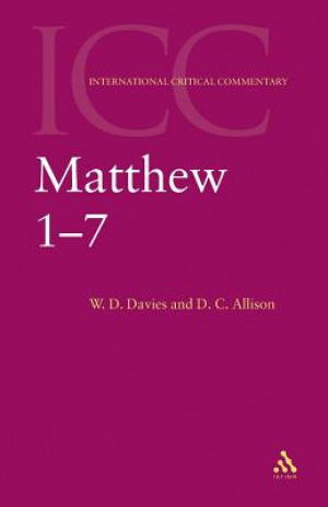 Matthew 1-7 : International Critical Commentary