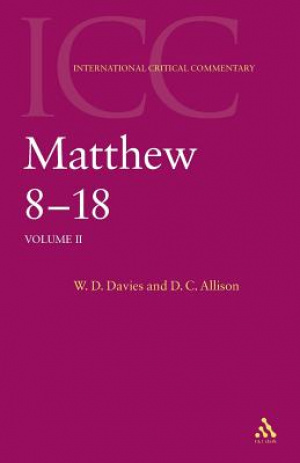 Matthew 8-18 : International Critical Commentary